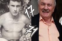 Tento dvojsnímek sestavila před 3 roky dcera Miroslava Haška Barbora- tehdy k jeho 71.narozeninám.