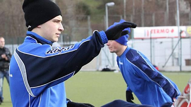 Radek Gulajev na prvním tréninku Army.