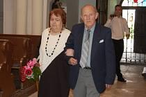 Obnovení manželského slibu manželství Karla a Marie Benešových se odehrálo v Chabařovicích.
