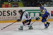 Z hokejového utkání mezi Ústím nad Labem a Mladou Boleslaví
