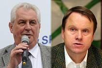 Miloš Zeman (SPOZ) a Martin Bursík (SZ) nebudou v Otázkách Václava Moravce speciál, které se budou vysílat z Ústí nad Labem.