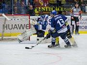 Ústečtí hokejisté (žlutí) prohráli na ledě Kladna i druhý zápas.