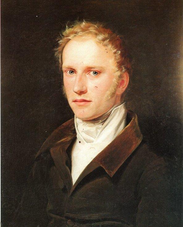 Podobizna mladého Františka Palackého od Františka Tkadlíka.