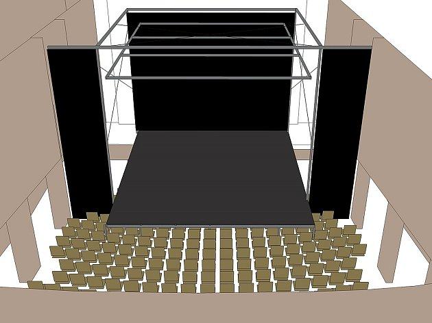 Lidé z Činoheráku Ústí chtějí v kině Hraničář postavit nové jeviště a umístit zde osvětlení. V sále mají hrát herci, ale plánují zde i řadu dalších akcí.