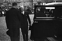 Státníci na návštěvě Ústí. Edvard Beneš jako ministr zahraničí v roce 1935.