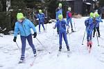 Děti z lyžařského oddílu na Adolfově.