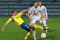 Fotbalisté ústecké Army (bílé dresy) utrpěli ve Zlíně debakl 0:5.