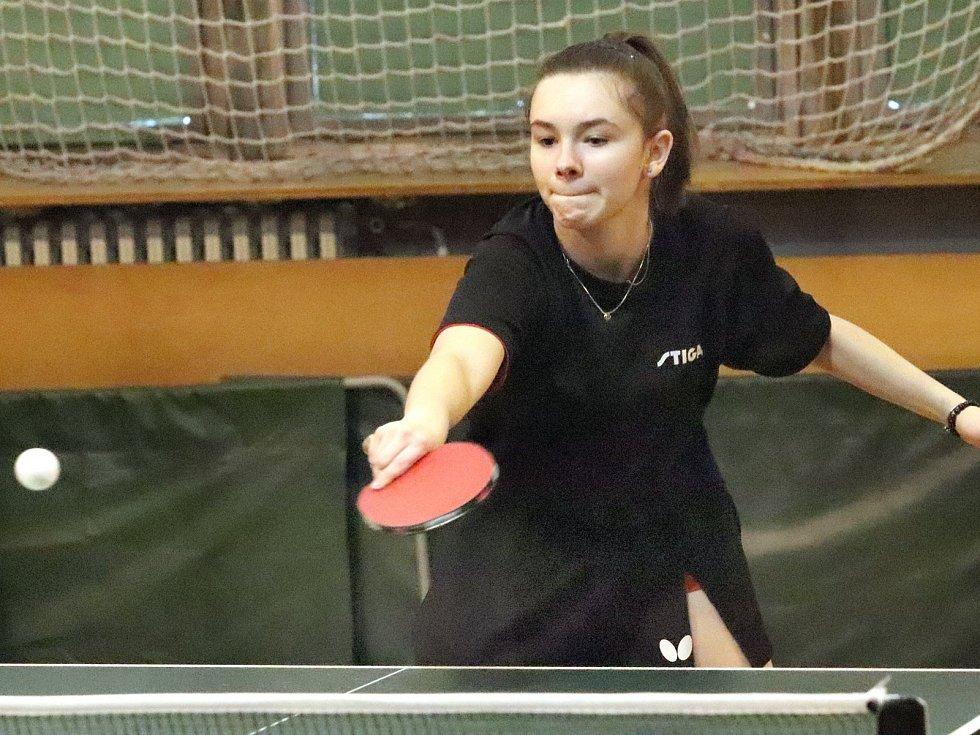 Stolní tenistky SKP Sever Ústí n(L jsou na šestém místě skupiny A 1. ligy. Martina Nováková