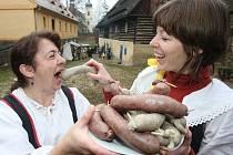 Tradiční zabijačkové hody v Zubrnicích.