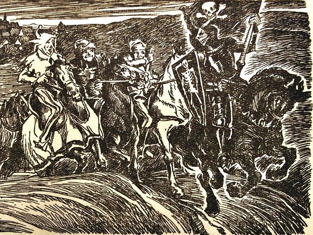 Obrázky strašidel pochází ze starých německých knih uložených v Muzeu města Ústí nad Labem.