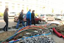 Optické kabely - ilustrační foto