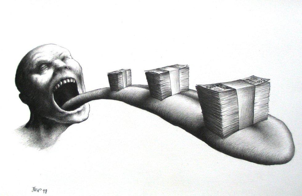 Původní ilustrace Oldřicha Jelena ke knize Jobova zvěst.