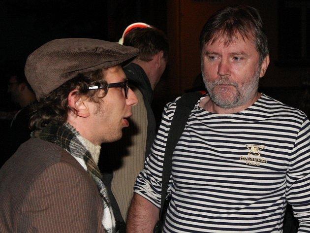 Herec Jiří Maryško (vlevo) a fotograf Miroslav Rosendorf.