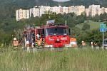 Místo tragické nehody u Ústí nad Labem