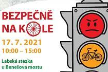 V sobotu 17. července se uskuteční akce Bezpečně na kole na Labské stezce u Benešova Mostu.