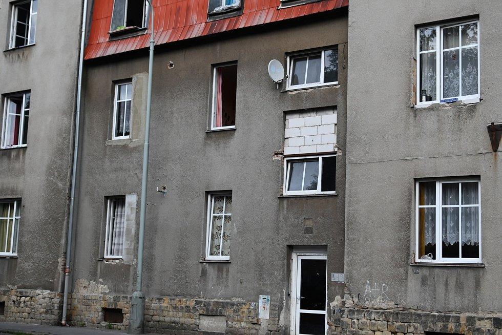 Objekt v ulici Železničářská ve Střekově.
