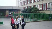 Základní škola Rabasova na archivním snímku
