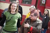 Dámský vlak přijel do Telnice.