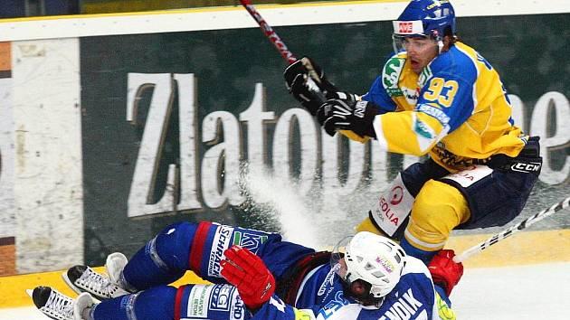 Ústečtí hokejisté na ledě Vrchlabí prohráli 1:2.