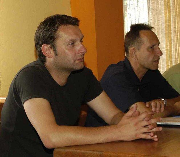 Sportovní ředitel Svatopluk Habanec a trenér Libor Pala