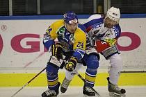 Z hokejového utkání mezi Vrchlabím a Ústím.