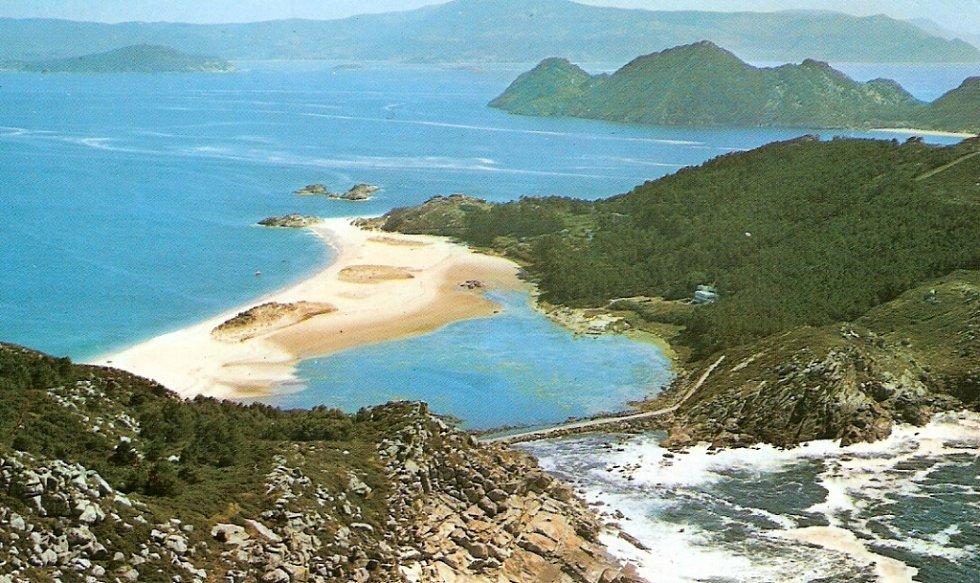 Jedna z nejčistších pláží světa na Islas de Cies.