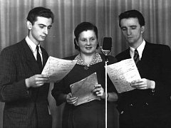 Ústecké studio Českého rozhlasu v roce 1948.