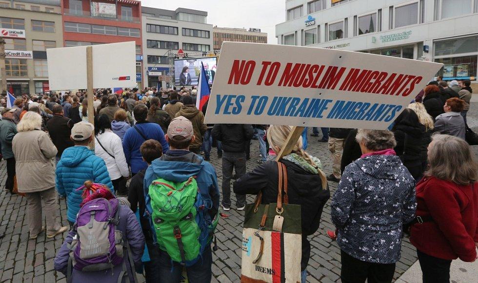 Ústí bouřilo proti islámu a uprchlíkům.