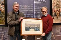 Ilustrační snímek. Obraz věnovaný muzeu města Ústí nad Labem vnukem Georga Schichta