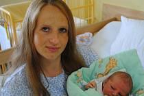 Michala Holečková, porodila v ústecké porodnici dne  5. 6. 2011 (9.08) syna Michala  (50  cm, 3,55  kg).