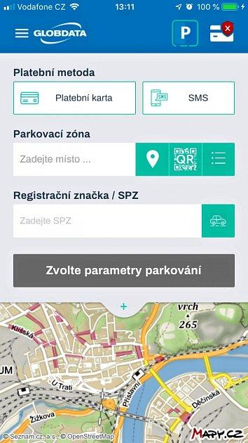 Nová parkovací aplikace