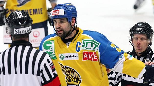 Kapitán ústeckých hokejistů Jan Klobouček.