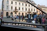 Dění na Kostelním náměstí v sobotu 9. září oživila akce s názvem Jízda veteránů do vrchu.