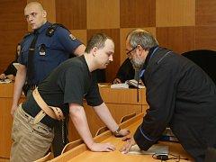 Ondřej Miler u ústeckého krajského soudu.