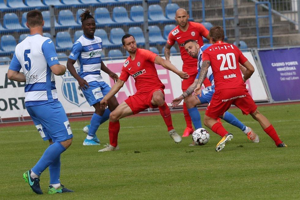 Fotbalisté Ústí nad Labem prohráli v prvním zápase po pauze zaviněné koronavirem 1:2. Na domácí půdě nestačili na Zbrojovku Brno.