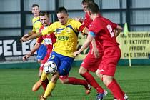 Ústečtí fotbalisté (červení) prohráli ve Zlíně 1:2.