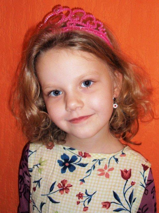 5. VERUNKA MINÁŘOVÁ, 5 let, Krupka.