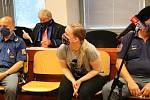 Obžalovaná Vendula Králíková u ústeckého soudu