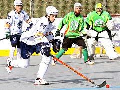 Hokejbalista Elby DDM Ústí Petr Švanda.