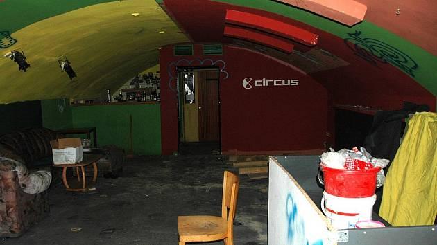 Prostory hudebního klubu Circus.