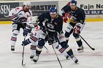 Hokejové utkání Ústí nad Labem s Chomutovem.