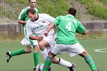 Fotbalisté Božtěšic (zelení) nezvládli ani poslední utkání sezony a Svádovu B podlehli 1:8.