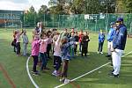 Zkušení baseballoví hráči lákali děti ke sportu v ústecké škole České mládeže.