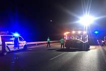 Večerní nehoda na dálnici D8 u Petrovic