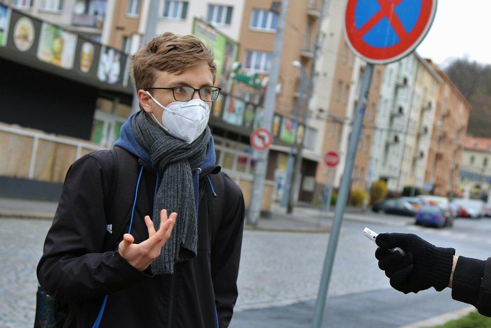 Protestní akce organizace Extinction Rebellion v Ústí nad Labem