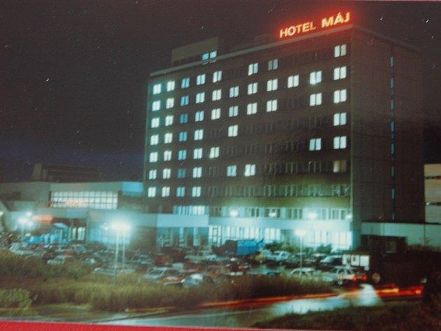 Hotel Máj vdobě největší slávy.
