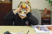 Děti si v tvůrčí dílně vyrobily masky na nadcházející Proboštovský Masopust.
