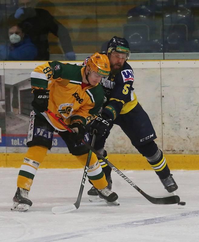 Hokejový zápas Ústí a Vsetín