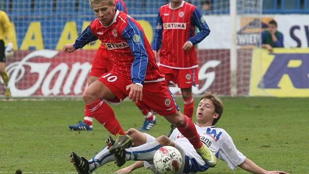 Z fotbalového utkání FK Ústí nad Labem - Zbrojovka Brno...