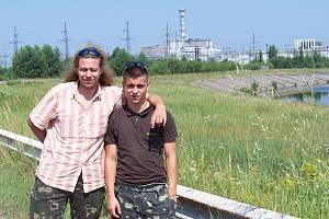 Šimon Dvořák (vpravo) v Černobylu